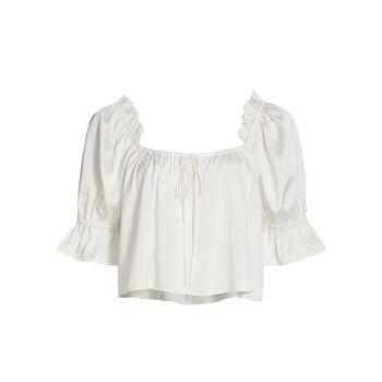 Крестьянская блуза Misti с объемными рукавами WAYF