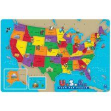 Образовательная информация США Пена-пазл с картой Educational Insights