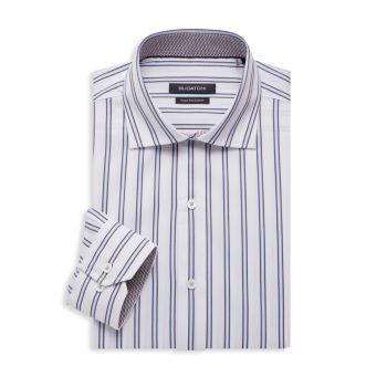 Regular-Fit Striped Dress Shirt BUGATCHI