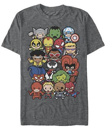 Мужская коллекция комиксов Kawaii Marvel Мужская футболка с коротким рукавом Dogpile Marvel