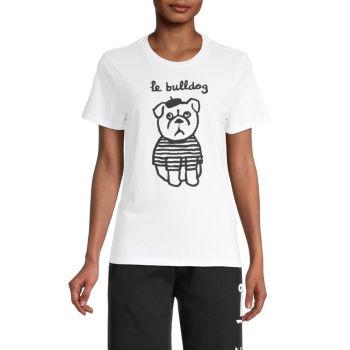 Le Bulldog-Print T-Shirt French Connection