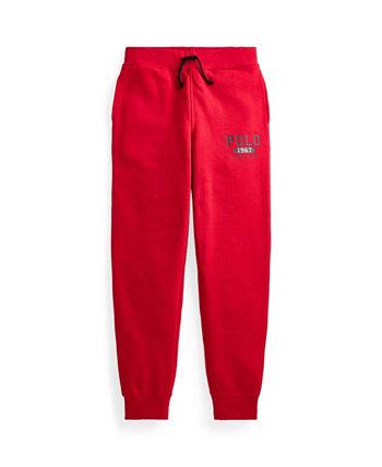 Флисовые брюки-джоггеры с логотипом Big Boys Ralph Lauren
