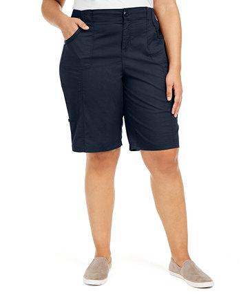 Хлопковые шорты-бермуды больших размеров, созданные для Macy's Style & Co
