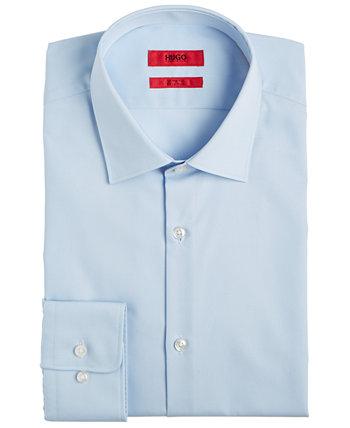 Голубая однотонная мужская рубашка приталенного кроя HUGO BOSS Hugo Boss
