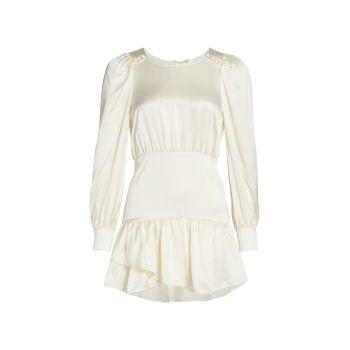 Шелковое мини-платье Teyana LOVESHACKFANCY