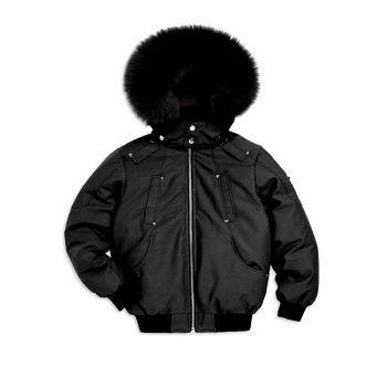 Little Boy's & amp; Куртка-бомбер с отделкой лисой для мальчиков Moose Knuckles