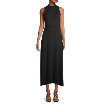 Highneck A-Line Dress Calvin Klein