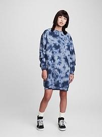 Платье-толстовка оверсайз с принтом тай-дай для подростков Gap