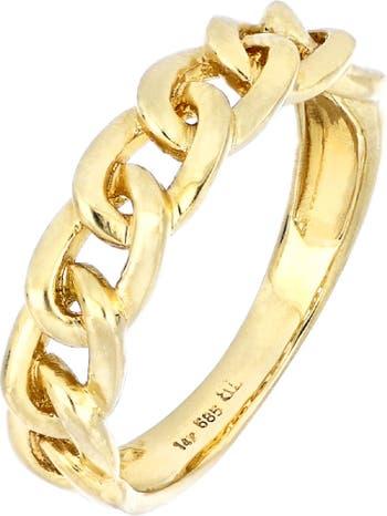 Кольцо Ofira из 14-каратного золота с одинарным звеном Bony Levy