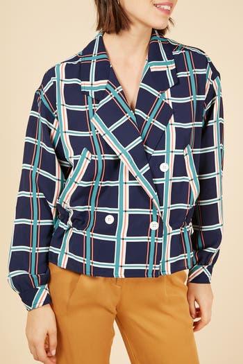 Двубортный пиджак с принтом Windowpane FRNCH