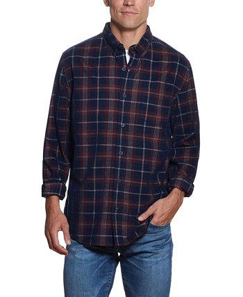 Мужская рубашка из ткани добби в клетку из тканого корда Weatherproof Vintage