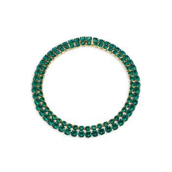 Курортный отель 22 Goldtone & amp; Ожерелье с кристаллами Swarovski Oscar de la Renta