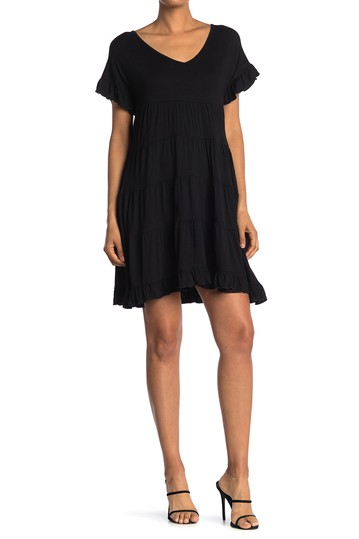 Вязаное многоярусное платье для бэбидолла Angie