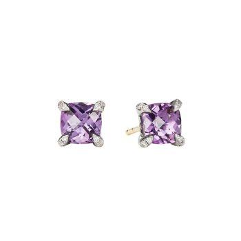 Серьги-гвоздики Châtelaine® с драгоценными камнями и камнями Бриллианты David Yurman