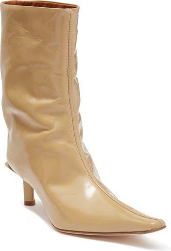 Ботинки Kelly с острым носком из лакированной кожи Miista