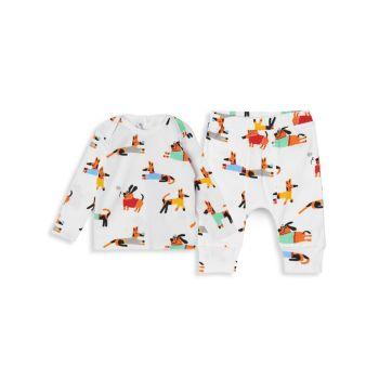 """Детские & amp; Двухкомпонентный топ для маленьких мальчиков с принтом """"собачий"""" и & amp; Комплект брюк Stella McCartney Kids"""