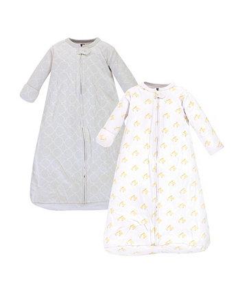 Девочка и Мальчик Утка с Длинным Рукавом Носимый Спальный Мешок, Пакет 2 Hudson Baby