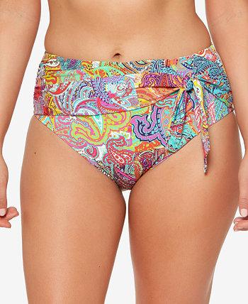 Bohemian Paradise High-Waist Bikini Bottoms Bleu Rod Beattie