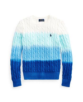 Вязаный вязаный свитер для больших девочек Dip-Dyd Ralph Lauren