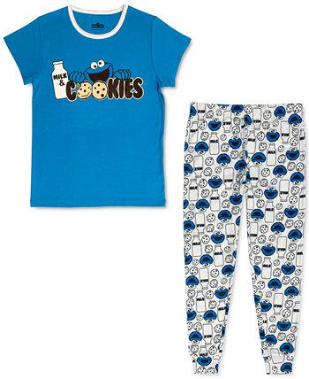 Женский семейный пижамный комплект Cookie Monster Sesame Street