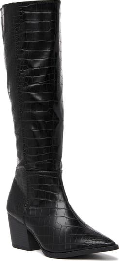 Jeff Croc Embossed Boot Wild Diva Lounge