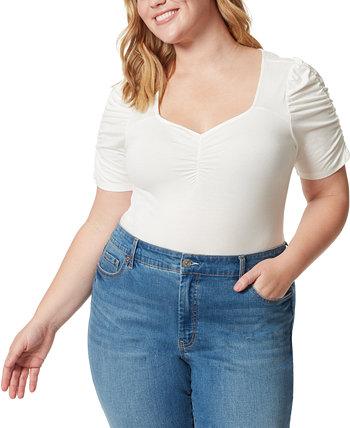 Модное боди большого размера Amelie со сборками и сборками Jessica Simpson