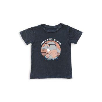 Little Boy's & amp; Хлопковая футболка Boy's Save The Locals Tiny Whales