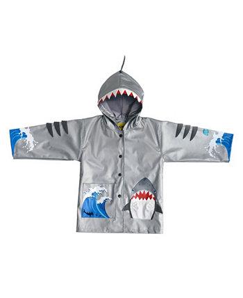 Маленький и большой мальчик в удобных дождевиках из акулы Kidorable