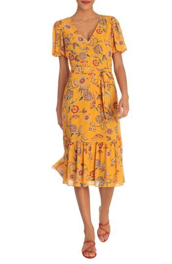 Платье миди с пузырьками и цветочным принтом Donna Morgan
