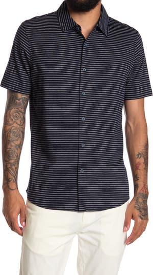 Рубашка в полоску с короткими рукавами и пуговицами спереди Raffi