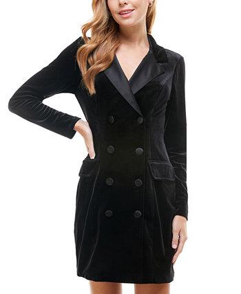 Бархатное платье-пиджак под смокинг для юниоров City Studios
