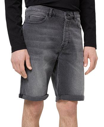 Мужские зауженные эластичные джинсовые шорты Hugo Boss 634S 10 дюймов HUGO