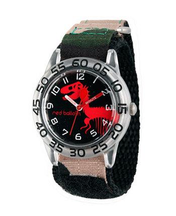 Пластиковые часы для учителей времени Red Balloon Dinosaur для мальчиков Ewatchfactory