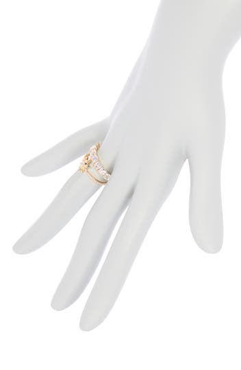 Кольца с украшением CZ - набор из 3 шт. NADRI