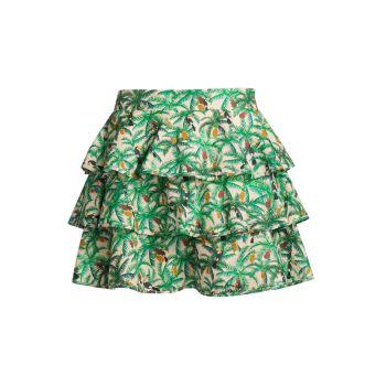 Многослойная мини-юбка Toucans Farm Rio
