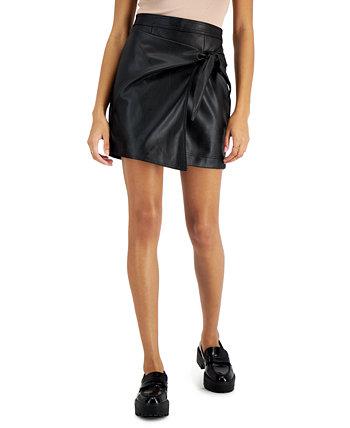 Юниорская мини-юбка с запахом, созданная для Macy's Tinseltown