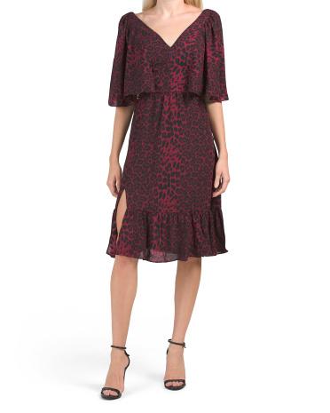 Платье-накидка с разрезом спереди Francesca Dress the Population