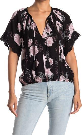 Кружевная блузка-крестьянка American Rag