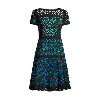 Платье Ombre с лазерной резкой SHANI