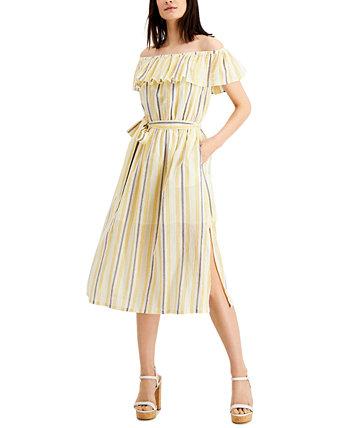Платье с открытыми плечами и оборками, стандартные и маленькие размеры Michael Kors