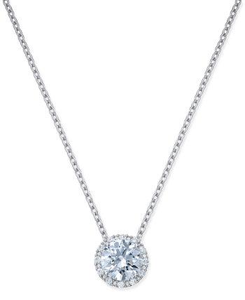 Ожерелье с подвеской Swarovski Halo из стерлингового серебра с цирконием Arabella