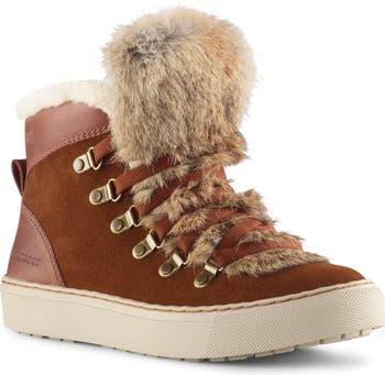 Высокие кроссовки Dani с оторочкой из натурального меха кролика Cougar