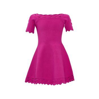 Girl's Keyhole Twist Trim Dress Milly Minis