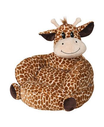 Детский плюшевый стул с персонажами жирафа Trend Lab
