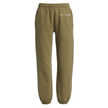 Хлопковые спортивные штаны с логотипом THE MARC JACOBS