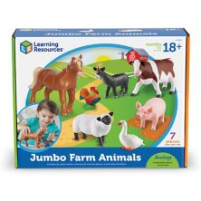 Learning Resources 7-pc. Jumbo Farm Animals  Learning Resources