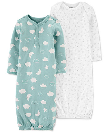 Baby Boys or Girls 2-Pack Sleeper Gowns Carters