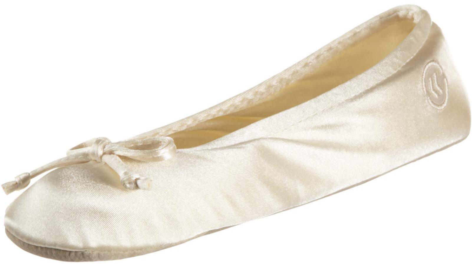 Satin Ballerina Slippers ISOTONER