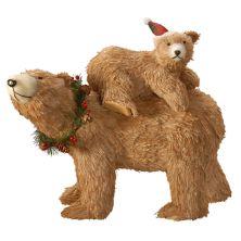 "National Christmas Tree 14.5"" Bear and Cub Floor Decor National Tree Company"