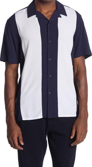 Рубашка с короткими рукавами и цветными блоками Toscano
